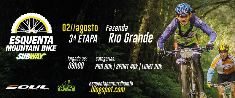 ESQUENTA MTB SUBWAY® -3ª ETAPA- Fazenda Rio Grande