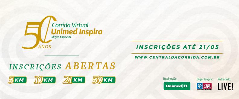 CORRIDA VIRTUAL UNIMED INSPIRA 50 ANOS