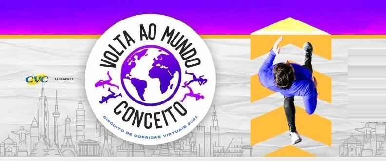 CORRIDAS VIRTUAIS CONCEITO VOLTA AO MUNDO