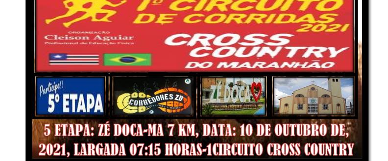 5ª ETAPA DO1ªCIRCUITO DE CORRIDAS CROSS COUNTRY-MA