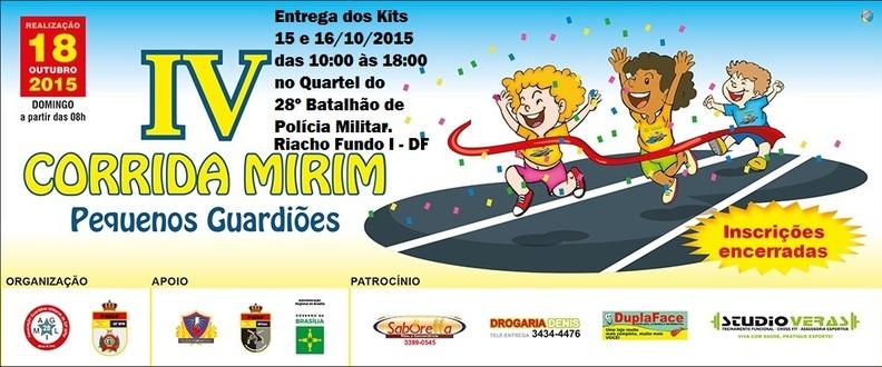 IV CORRIDA MIRIM PEQUENOS GUARDIÕES - RIACHO FUNDO