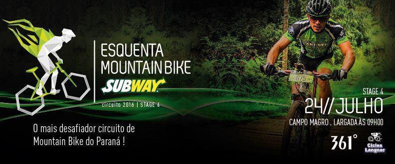 Esquenta MTB SUBWAY® - 4º Etapa - Campo Magro