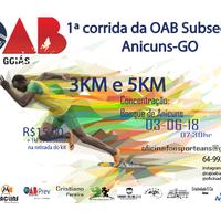 1ª CORRIDA DA OAB SUBSEÇÃO DE ANICUNS-GO